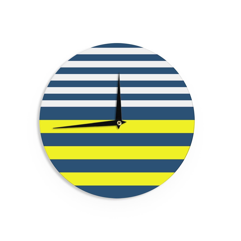 12-Inch Kess InHouse Trebam Nauticki Yellow Navy Wall Clock