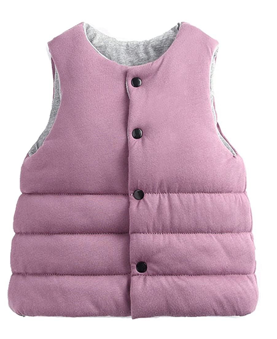 Roffatide Reversible Waistcoat Cotton Vest Jacket Coat Sleeveless Kid Girls Boys