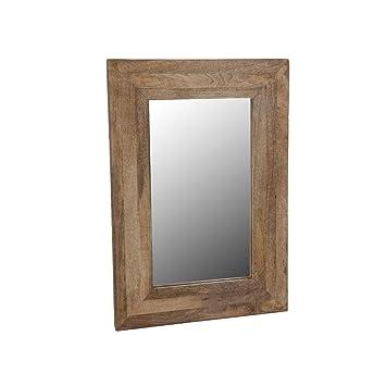 Druline Mango Natural Frame Hanging Mirror Bathroom Wall Mirror in ...