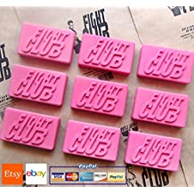 4 pcs / lot ~ Fight Club 1999 Dramatic Action Movie Bar of Soap Handmade by Project Mayhem - Novelty,Unisex, New (PINK)