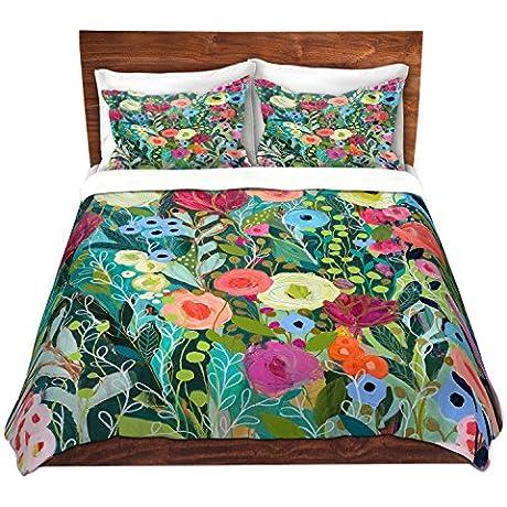 DiaNoche Designs Artist Carrie Schmitt Into The Depths Brushed Twill Home Decor Bedding Cover 8 King Duvet Sham Set