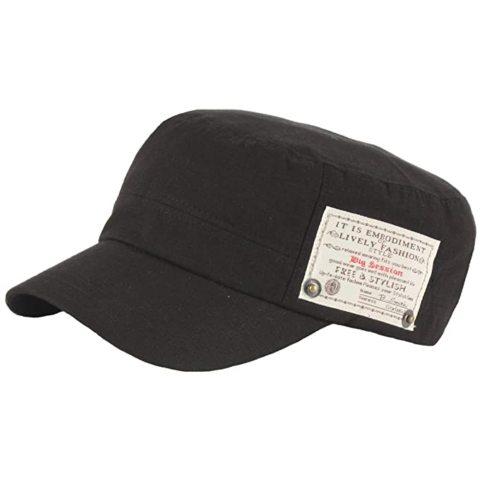 d54b997f14ed1e RaOn A152 Mens Womens Fashion Patch Design Strap Army Cap Golf Cadet Box Military  Hat (