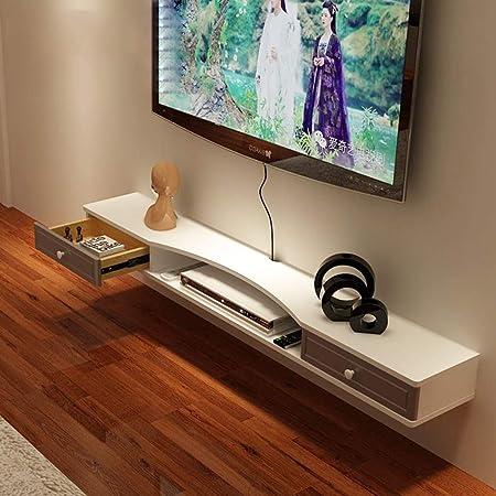 Jsmhh Tv Stand Tv Fond Mur Cabinet Support De Rangement Lecteur Dvd Haut Parleur Sky Cable Xbox Box Flottant Console De Jeu Support Mural Etagere Amazon Fr Cuisine Maison