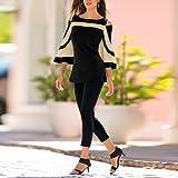 WomensBlousesClearance,KIKOY Cold Shoulder Long Sleeve Sweatshirt Tops