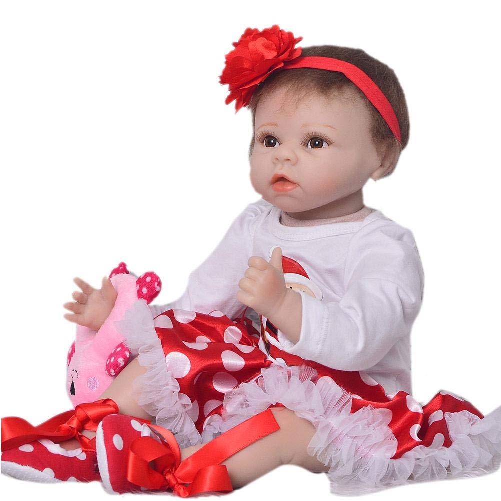 Baby Doll Reborn Handmade Realistico Baby Dolls Regali Giocattoli, Reborn Baby Doll Girl For Kids Compleanno compagno di crescita Partner 55 centimetri