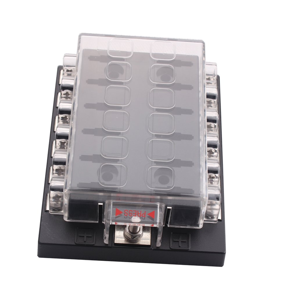 Generic New DC32V 12 Way Terminals Circuit ATC ATO Car Auto Blade Fuse Box  Block Holder - Electrical Fuse Holders - Amazon.com