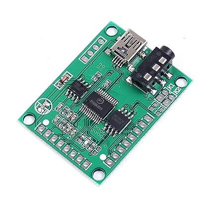 Amazon com: QYMUSB2FS Voice Module Sound Board 3W Amplifier Serial