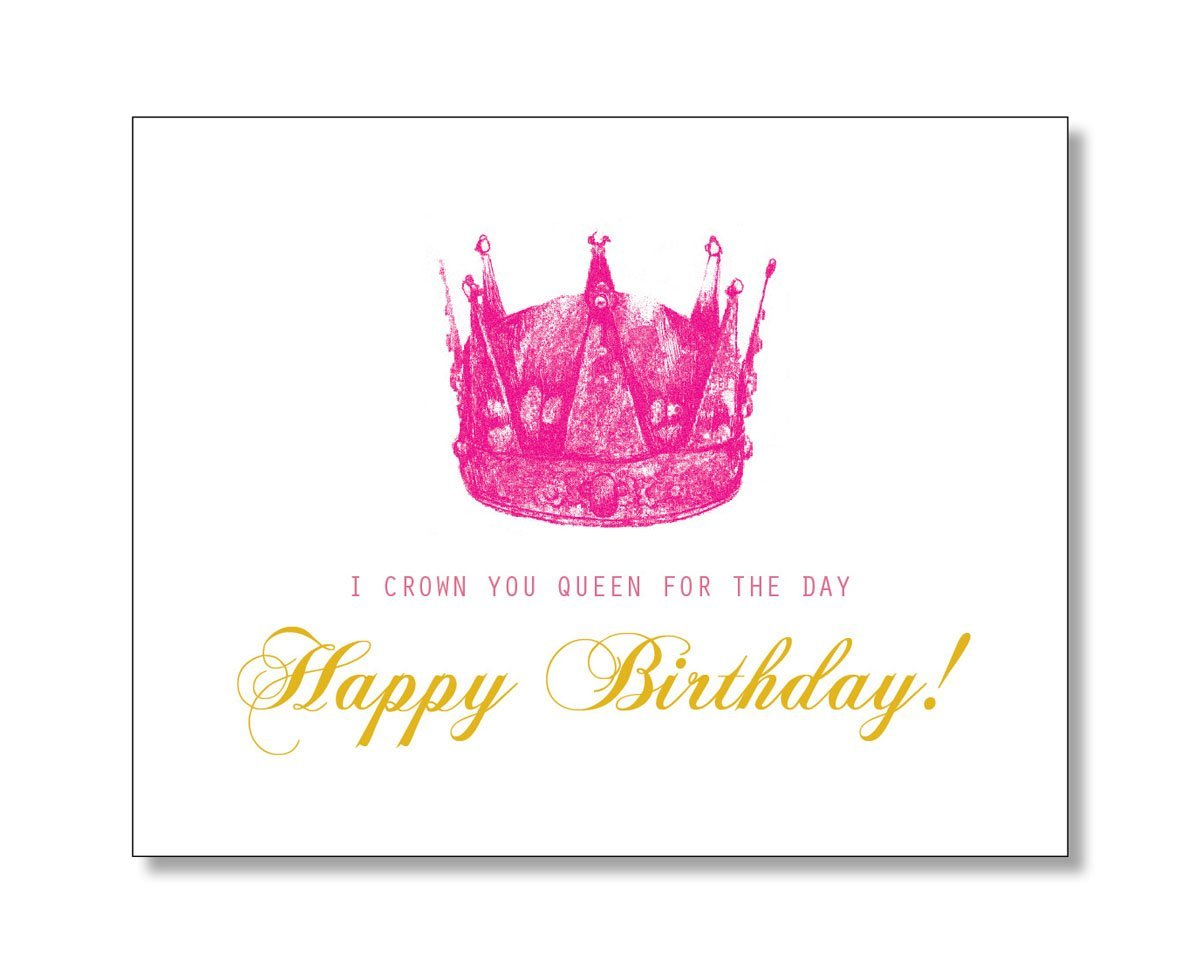 Amazon queen for the day happy birthday card handmade bookmarktalkfo Choice Image