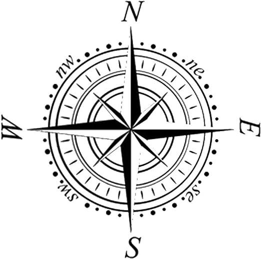 S size 27.5 x 27.5 in Widerverwendbare PVC-Schablone 70 x 70 cm wei/ß Windrose Navigationskompass wiederverwendbare Schablone A3 A4 A5 /& gr/ö/ßere Gr/ö/ßen Wanddekoration//Kompass