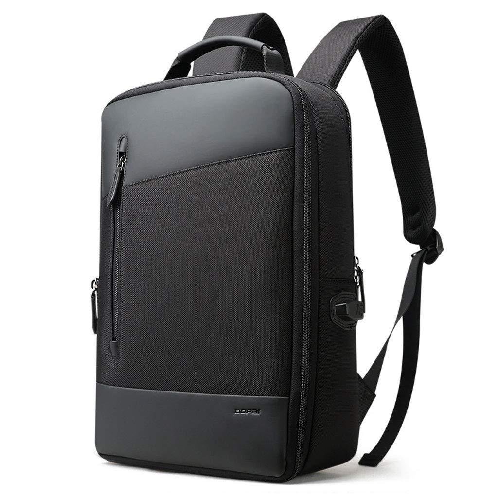 黒のノートパソコンのバックパック、ビジネススクールの防水バッグ多機能USB充電レジャー旅行バッグ30.5 * 13 * 45センチ カラー:ブラック、サイズ:M B07PMJVCCG