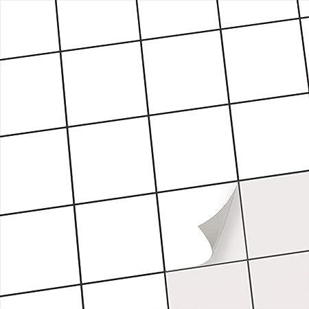 Stickers Carrelage Adhesifs Mosaiques Muraux Pour Salle D Eau Et Credence Cuisine I Autocollants Carrelage Motif Blanc I 10x10 Cm 20 Pieces Amazon Fr Cuisine Maison
