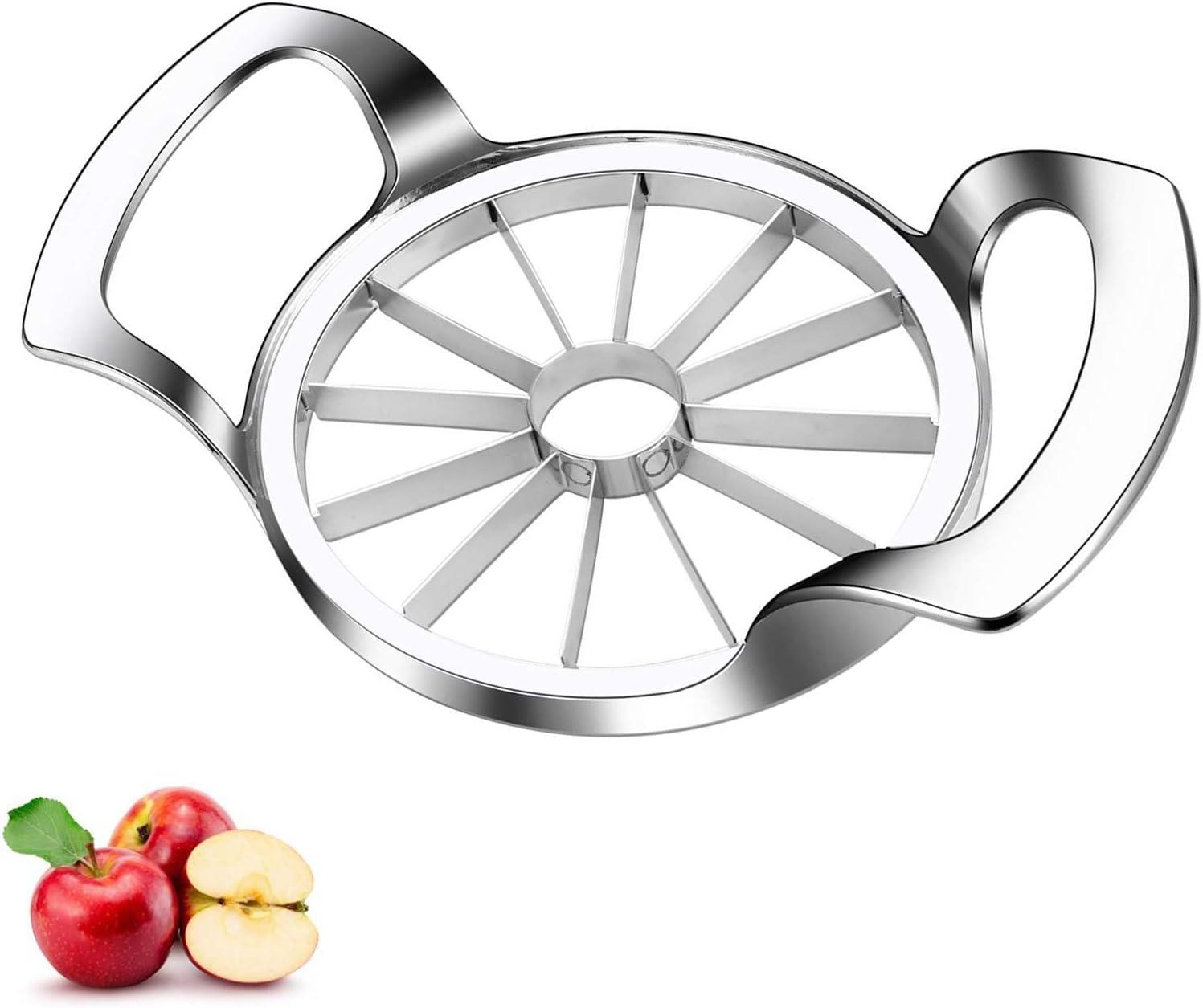 Apple Slicer DAOQI 12-Blade Apple Cutter, Upgraded Version Apple Corer and Divider, Stainless Steel Ultra-Sharp Fruit Apple Cutter Tool