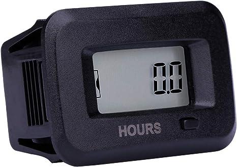 Round Digital Display Hour Meter Waterproof Car Truck RV Boat  5-277 VOLTS AC//DC