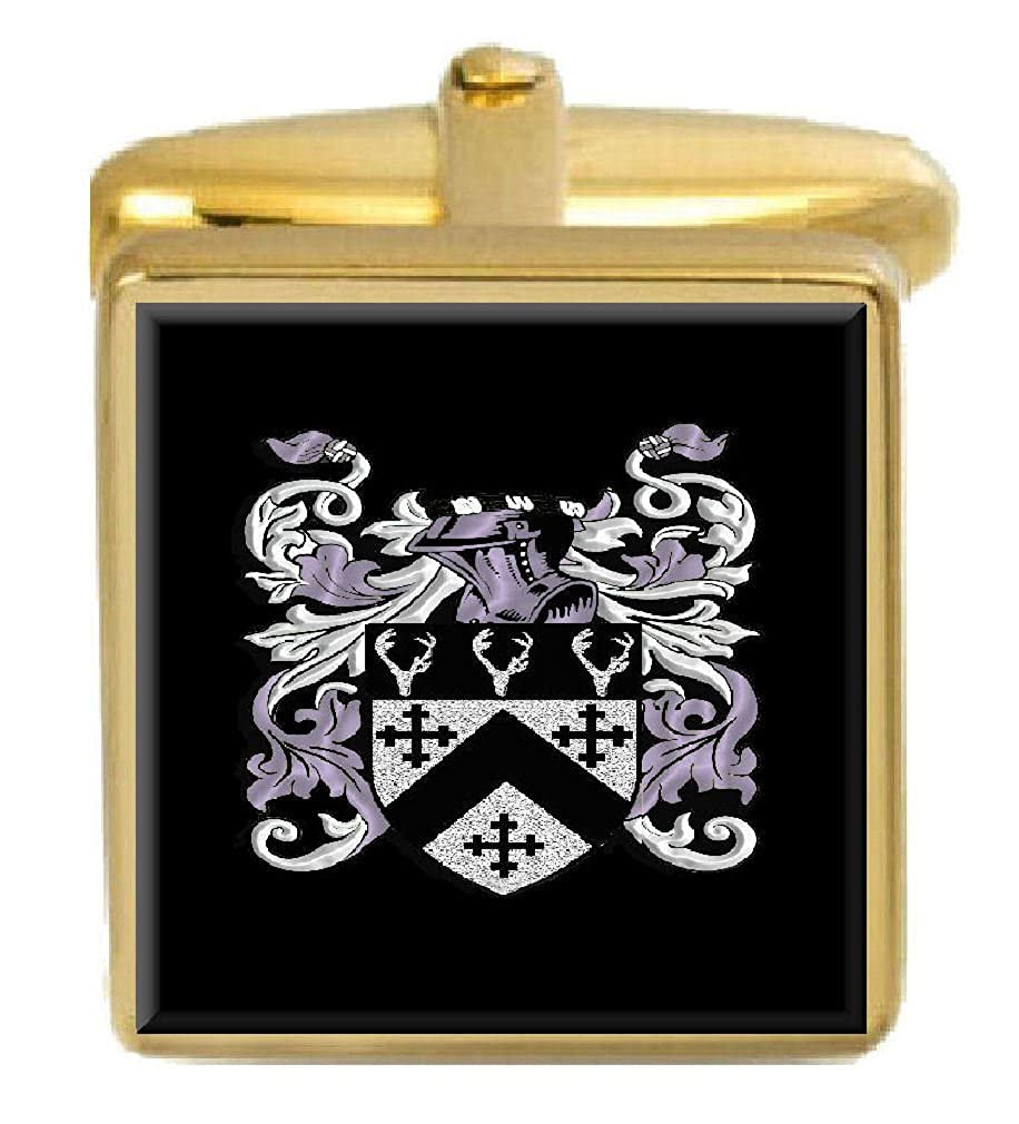 Select Gifts Walker Scotland Family Crest Surname Coat Of Arms Gold Cufflinks Engraved Box