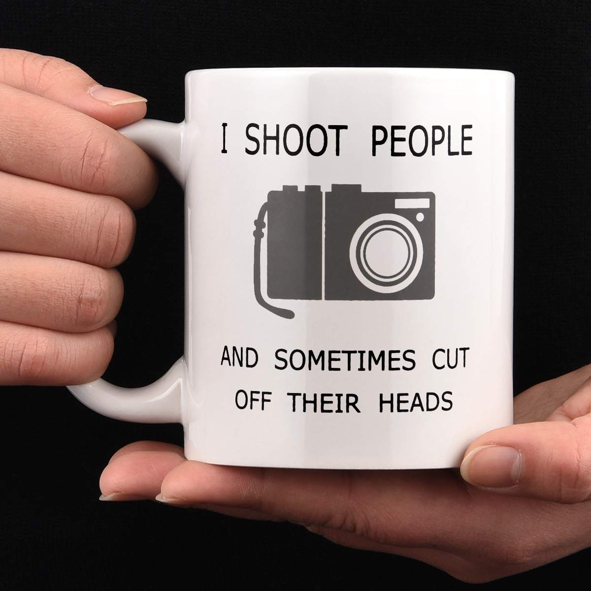 Coffee Mug Funny Photographer Coffee Mug Gifts I Shoot People and Sometimes Cut Off Their Heads Unique Gag Gifts for Photography Lover Ceramic Cup White 11 Oz Funny Photographer Coffee Mug Gifts
