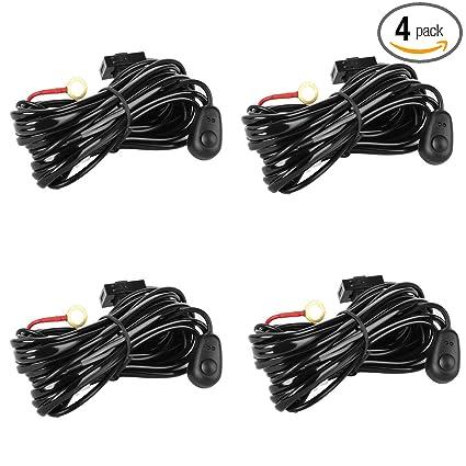 Awe Inspiring Amazon Com Eyourlife Wiring Harness 4Pcs Led Light Bar Wiring Wiring Database Rimengelartorg