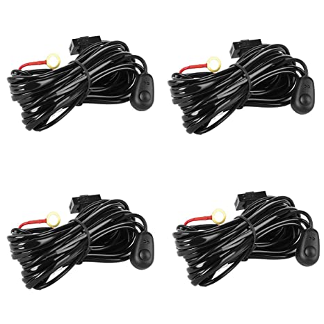 amazon com eyourlife wiring harness 4pcs led light bar wiring rh amazon com  eyourlife light bar wiring harness