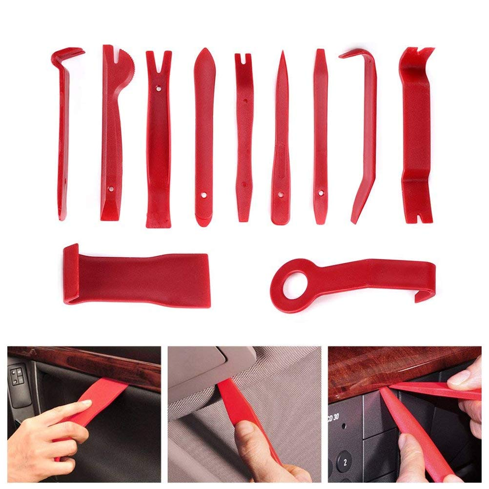 YOTINO 11 Pcs Car Trim Removal Tools Auto Door Panel Removal Tools Strong Nylon Car Pry Tool Kit for Dash Center Console Audio Installation and Removal