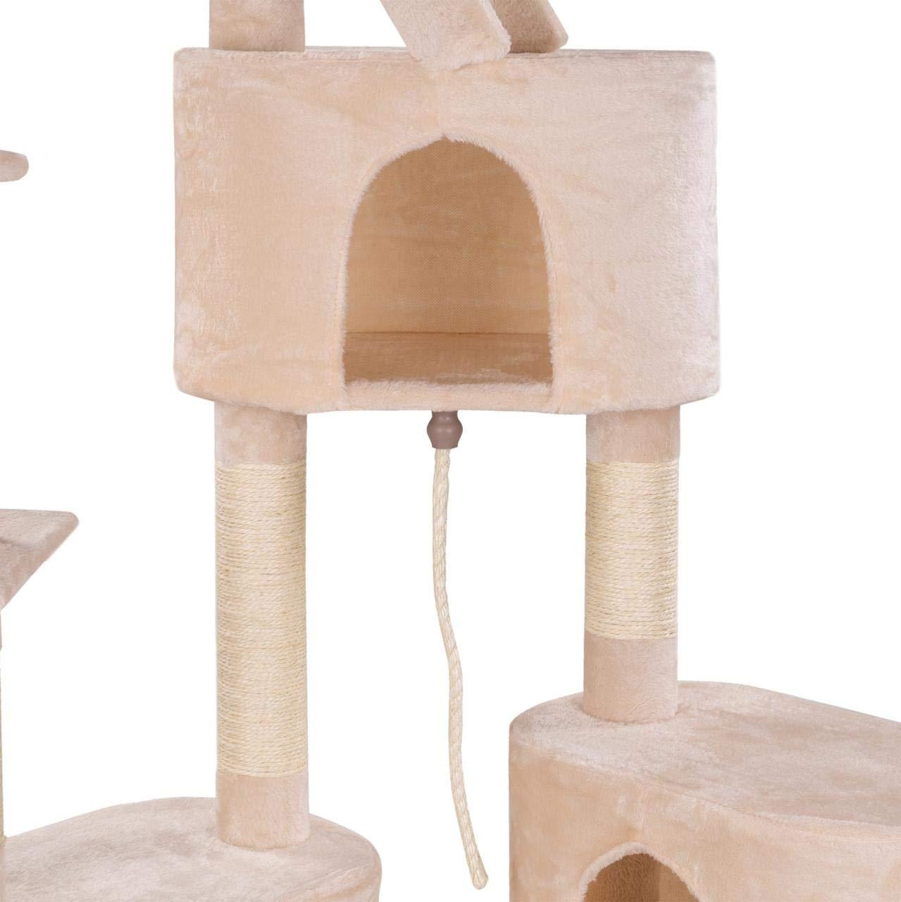 /260/cm Extra Spessore Colonne di sisal circa 8,0/cm Grotte liegemulden Scale di Corda Colore auswaehlbar Happypet kratz Albero per Gatti soffitto alto 230/