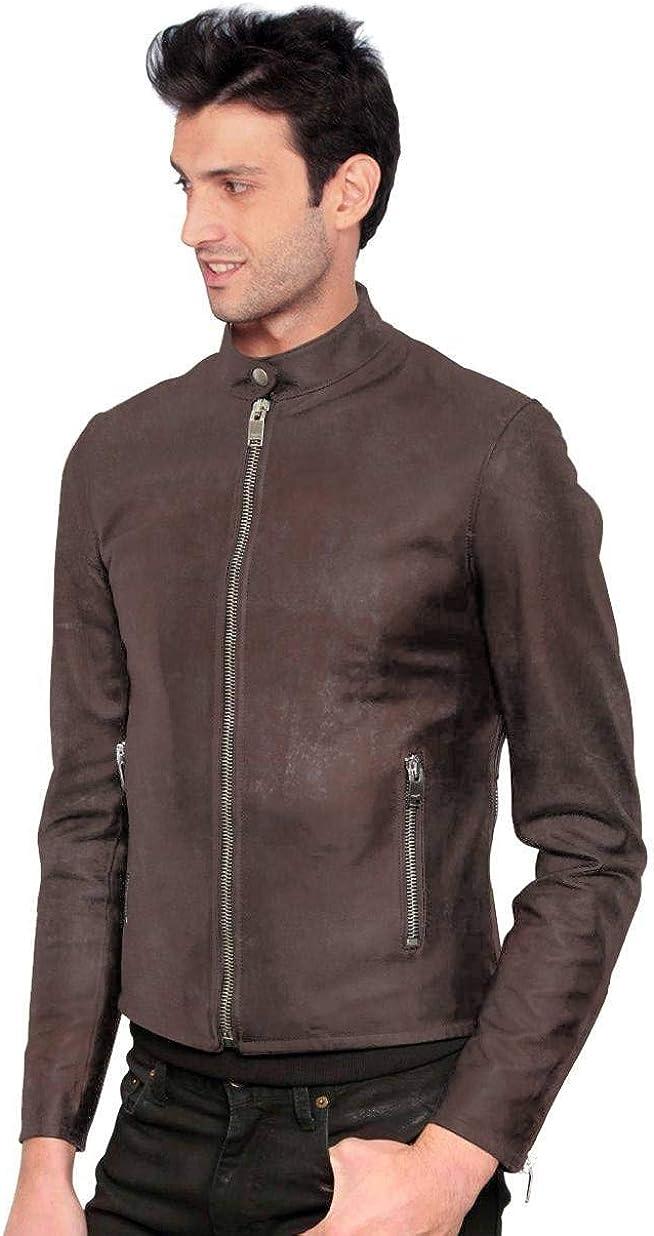 Black, Racer Jacket 1501203 Laverapelle Mens Genuine Lambskin Leather Jacket