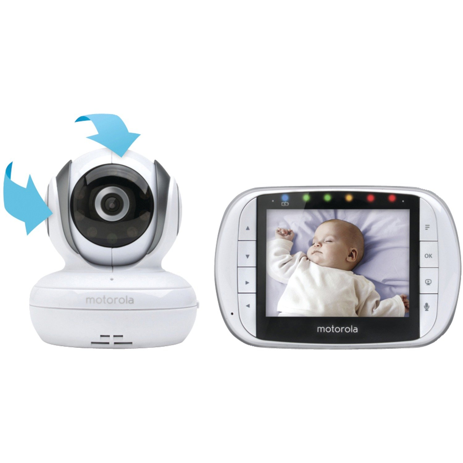 amazoncom motorola mbp36s remote wireless video baby monitor with 35 inch color lcd screen remote camera pan tilt and zoom baby - Baby Room Monitors