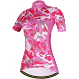 Womens Cycling Jersey Cool and comfortable Bicycle Cycle Racing Clothing Short Sleeve Shirt D409