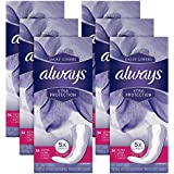 Always Xtra Protection Daily Liners, Extra Long Feminine Panty Liners, 34 Count - Pack of 6 (204 Total Count)