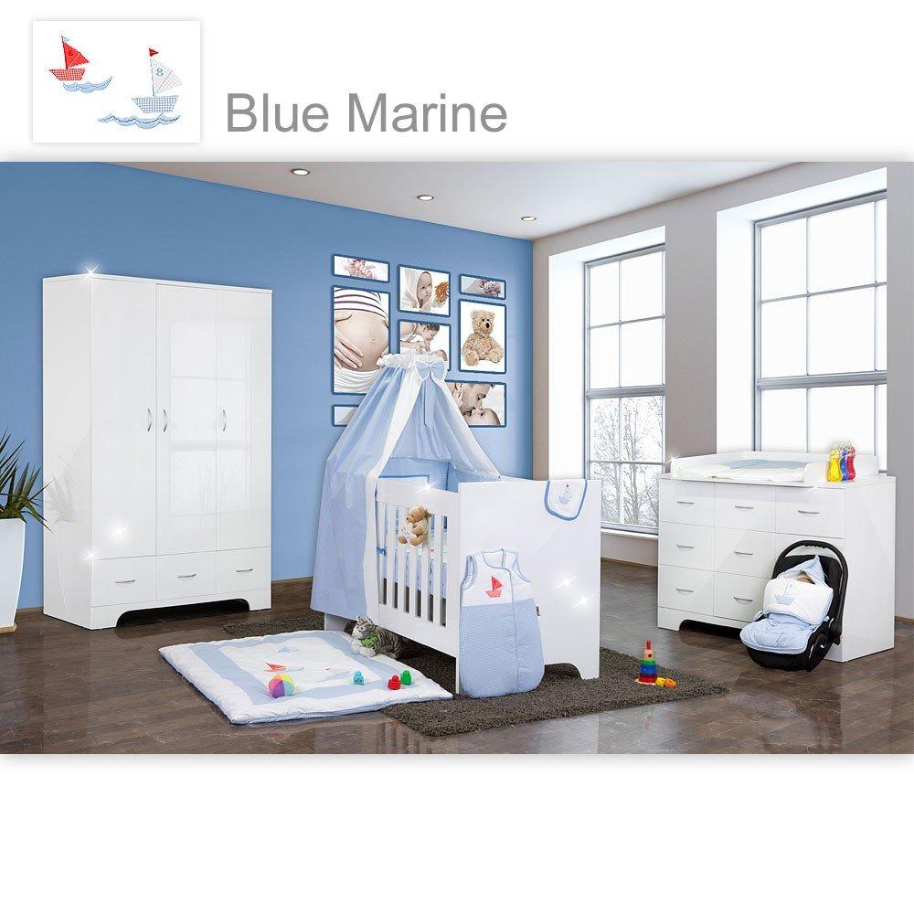 Hochglanz Babyzimmer 12-tlg. von Blue Marine