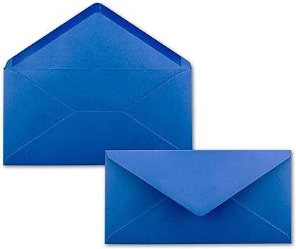 50 Brief Umschläge Royal Blau Königsblau Din Lang 110 X 220 Mm 11 X 22 Cm Nassklebung Ohne Fenster Ideal Für Einladungs Karten Serie Farbenfroh Bürobedarf Schreibwaren