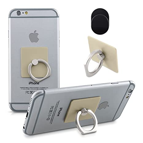 kwmobile Anillo Soporte para móvil - Anillo Sujetador para Smartphone - Sostenedor para teléfono Celular -