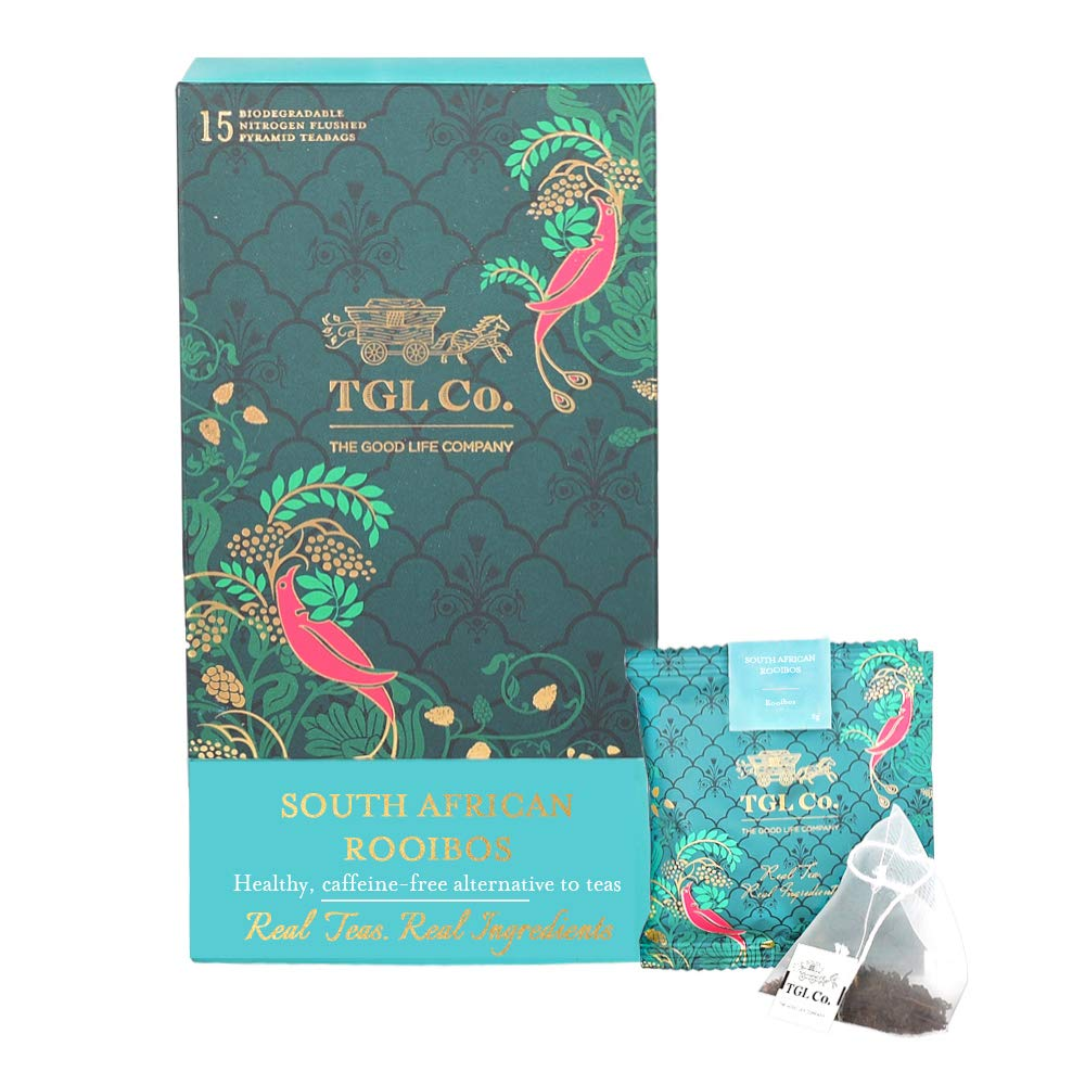 TGL South African Rooibos Tea, 32 Tea Bags (30 Tea Bags + 2 Free Exotic Sample) (B07DDKR7WD) Amazon Price History, Amazon Price Tracker