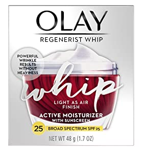Olay Regenerist Whip Active Moisturizer Spf#25 1.7 Ounce Jar (50ml) (2 Pack)