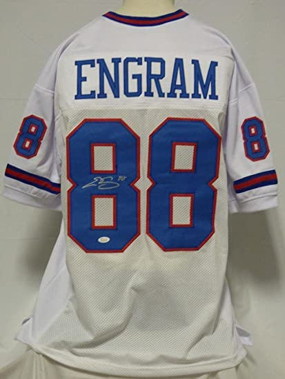 size 40 f98cc 15334 Autographed Evan Engram Jersey - Custom White Color Rush ...