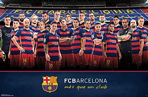 "Trends International FC Barcelona Team Wall Poster 22.375"" x"