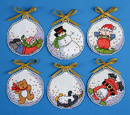 Design Works Crafts Christmas Bubbles Cross Stitch Ornament Kit, 4' 4 Inc. 1668