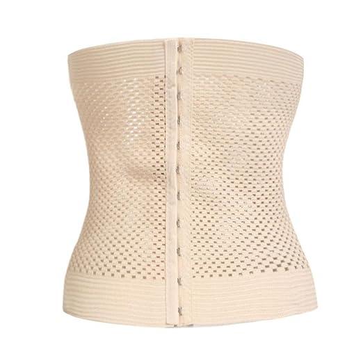 2cfb65e9b3 Image Unavailable. Image not available for. Color  Xixou Women Casual  Corset Waist Training Shaper Body Shapewear Underbust Belt Waist Cinchers