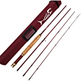 """Aventik Short & Light Ultra Light Fly Fishing Rod 6'1"""" LW0/1,6'6'' LW2, 6'8'' LW2/3, 7'6'' LW3/4, All in 4 Pieces Fast Action"""