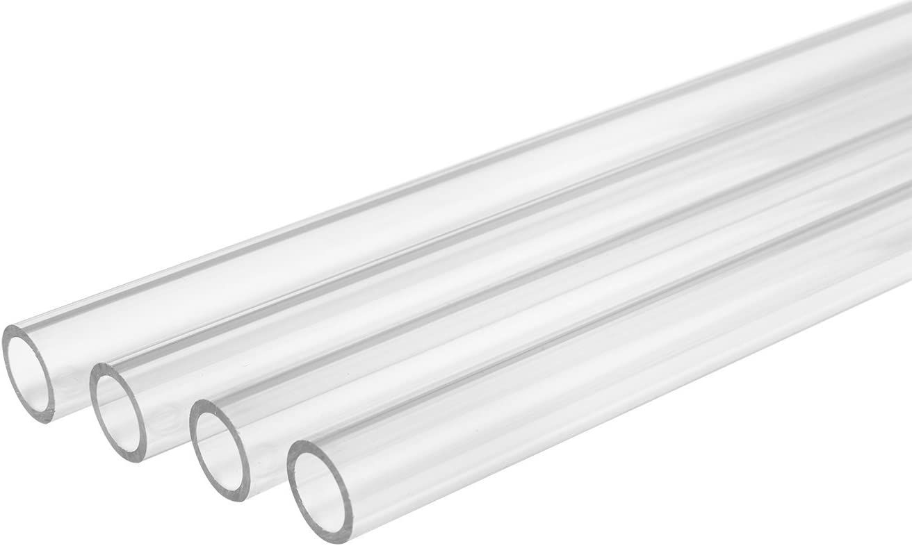 "Thermaltake Pacific DIY LCS 500mm Lengths V-Tubler PETG Hard Tubing (4-Pack) OD 16mm (5/8"") x ID 12mm (1/2"") CL-W065-PL16TR-A"