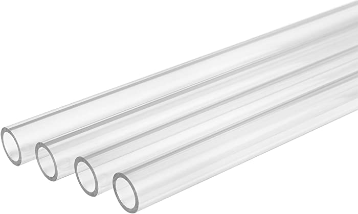 "Thermaltake Pacific DIY LCS 1000mm Lengths V-Tubler PETG Hard Tubing (4-Pack) OD 16mm (5/8"") x ID 12mm (1/2"") CL-W116-PL16TR-A"