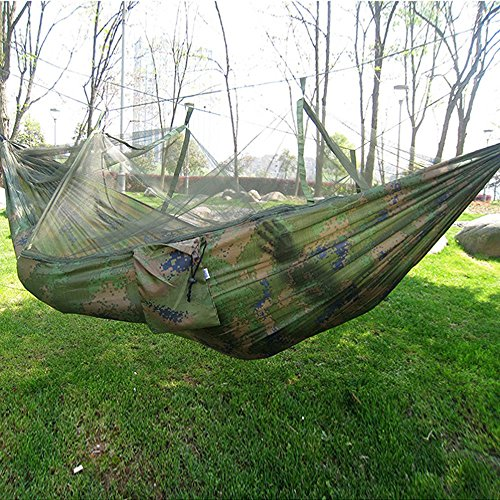 TRNS Portable Hammock Single-person Folded Into The Pouch Mosquito Net Hammock Hanging Bed For Travel Kits Adventure Camping - Skeeter Sunglasses