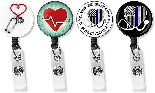 set of 4 badge reels FRIENDS