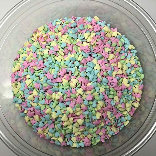 Spring Mini Bunny Chick Duck Egg Shapes Easter Topping Sprinkles 8 ounce