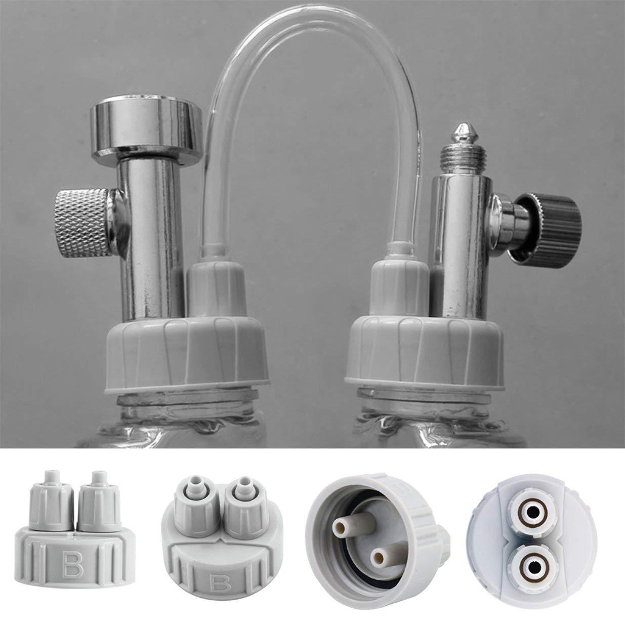 Gris clair Kit ABS Syst/ème bricolage CO2 Partie du g/én/érateur Bouchon de la bouteille avec tubes pour interface Aquarium B plant/é Portable L/éger