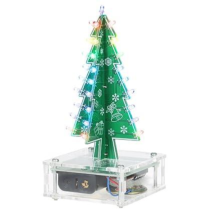 Diy Colorful Easy Making Led Light Acrylic Christmas Tree With Music