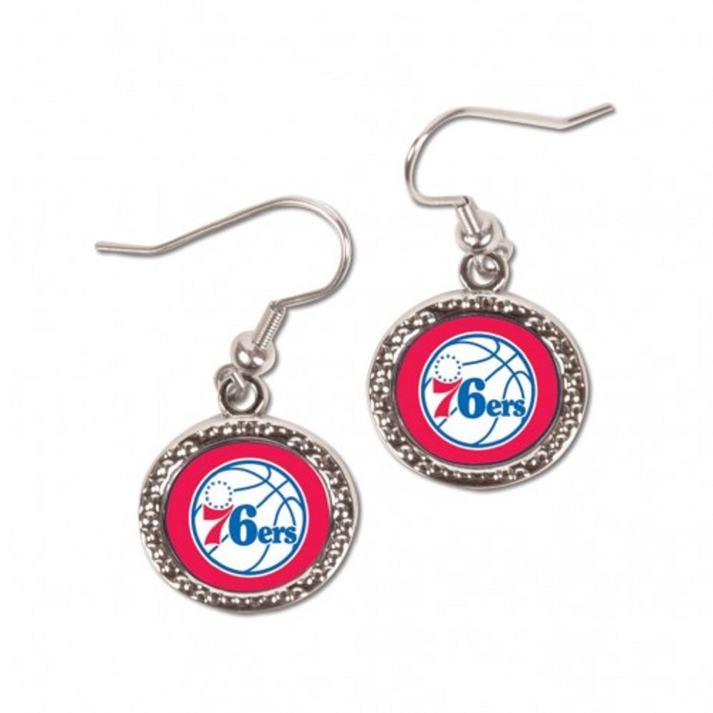Wincrafts NBA Philadelphia 76ers Carded Round Jewelled Earrings