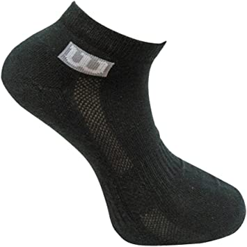 Calcetines Wilson negros para hombre, pack de 3, negro: Amazon.es ...