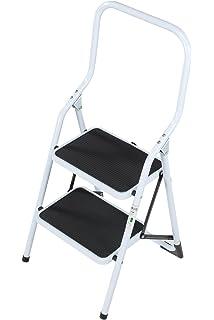 Superb Abru 220322 Step High Handrail Step Stool Black Amazon Bralicious Painted Fabric Chair Ideas Braliciousco