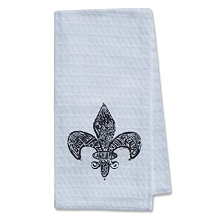 Amazon.com: Signature Fleur de Lis Kitchen Towel: Home ...