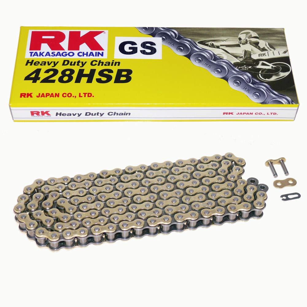 Kettensatz Yamaha YZF R125 08-18 Kette RK GS 428 HSB 132 offen GOLD 14//48