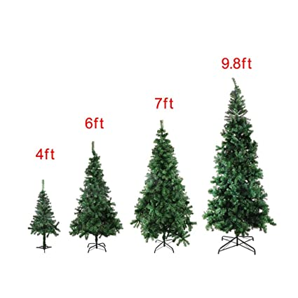 232bfa40ecb Image Unavailable. Image not available for. Color  4 6 7 9.8 Feet Tall  Christmas Tree W Stand Holiday Season